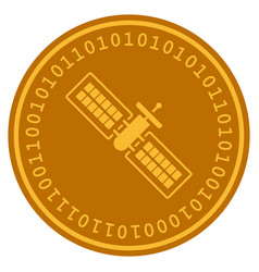 Satellite digital coin vector