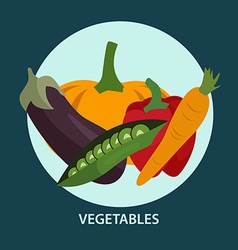 Set of fresh vegetables for your design vector image vector image