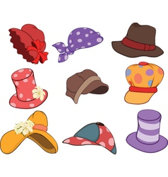 Set of Hats Cartoons vector