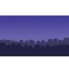 Silhouette of the city with a star vector image