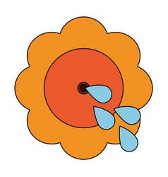 Squirt flower joke vector