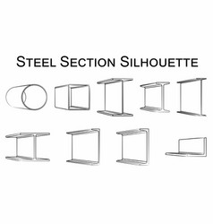 Steel section silhouette vector