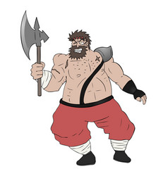strong warrior vector image