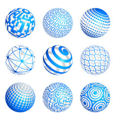 technological sphere vector image