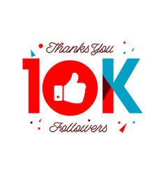 Thanks you 10k followers template design vector