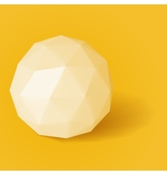 triangle sphere on yellow background vector image vector image