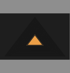 triangles in triangles black design abstract vector image