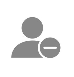 User profile with minus grey icon rejected vector