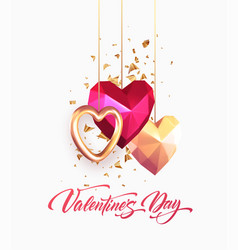 valentines day festive background with realistic vector image