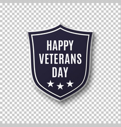 Veterans day background template vector