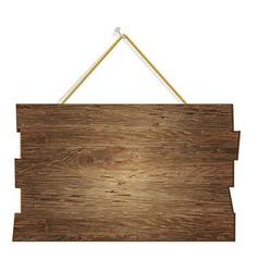 Wood Board vector image