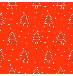 Xmas tree simple seamless pattern vector image