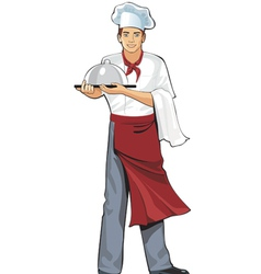 young cook vector image