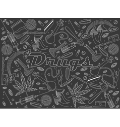 Drugs chalk vector image vector image