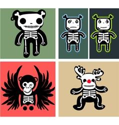 set teddy bones vector image vector image