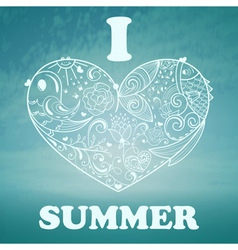 Summer background with blue sky and sea vector
