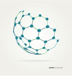 Abstract sphere hexagons template vector image vector image