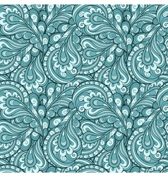 Blue feather pattern vector image