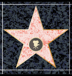hollywood walk of fame vector image vector image