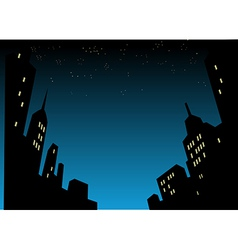 Night City Skyline Background vector image