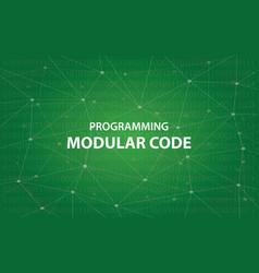 programming modular code concept vector image vector image