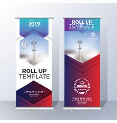 vertical roll up banner template design vector image