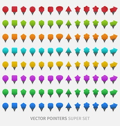 Webdesign pointers vector image vector image