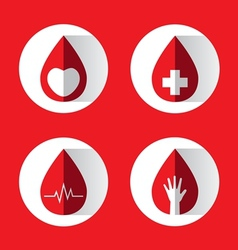 blood drops set vector image
