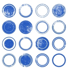 Blue Ronded Grunge Stamp vector image vector image