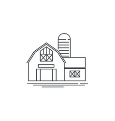 farmhouse barn line icon outline of vector image vector image