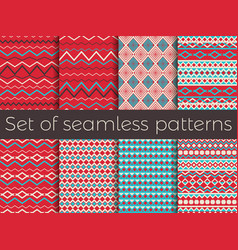 seamless pattern in ethnic style tribal seamless vector image vector image