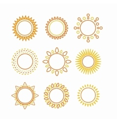 Sun set outline icon vector image vector image