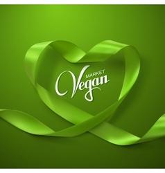 Vegan Market Sign vector image vector image