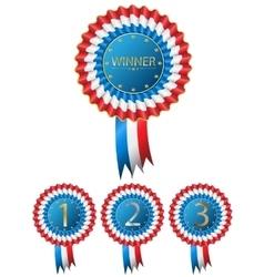 Vintage Winner Award Badge vector image