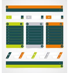 Web site design element vector image