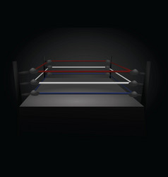 boxing ring vector image vector image