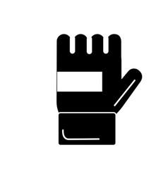 Contour sport glove to practice exercide vector