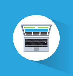 laptop marketing information web site vector image