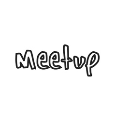 Meetup vector image vector image