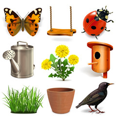 spring season icons vector image