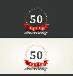 50 years happy anniversary banners vector