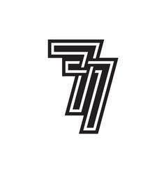 7 logo design template vector