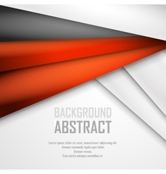 Abstract background of orange white and black vector image