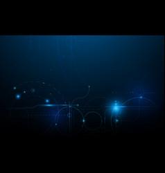 abstract geometric technology digital hi tech vector image