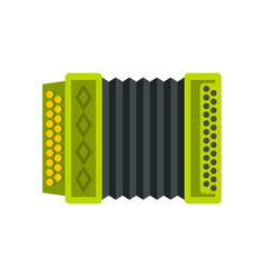 accordion icon flat style vector image