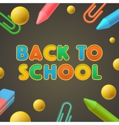 Back to school kindergarten play and learn vector