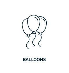 Balloons outline icon premium style design from vector