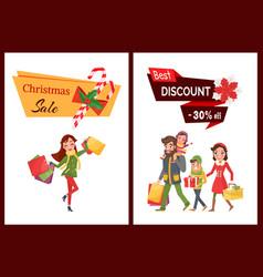 Best discount christmas sale 30 percent off set vector
