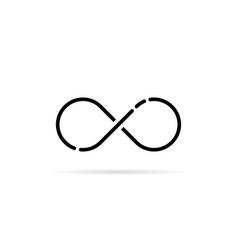 black infinity logo like unlimited icon vector image