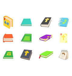 books icon set cartoon style vector image